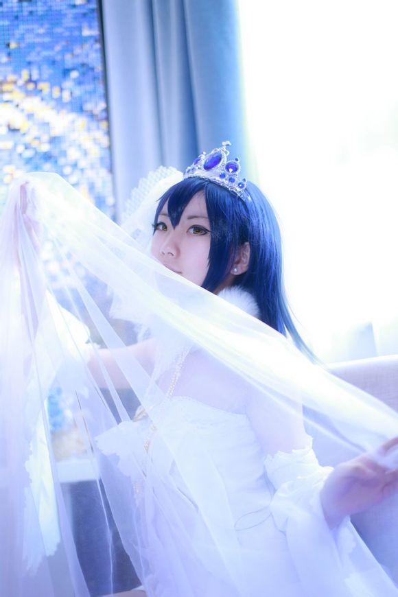 【阿九】【cos正片】海未婚纱