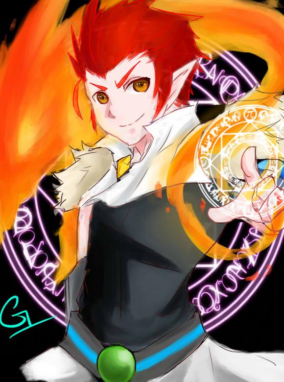 龙斗士手绘召唤师与赤炎龙