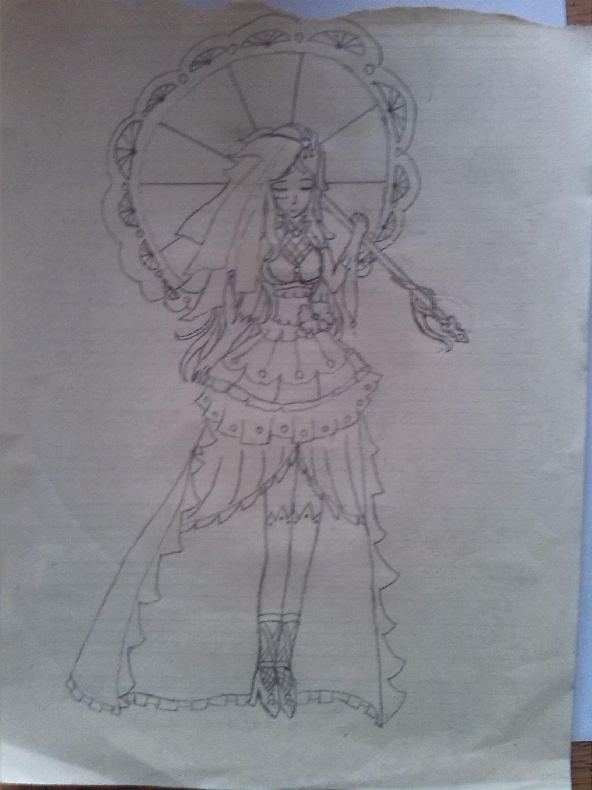 风衣设计图手稿素描