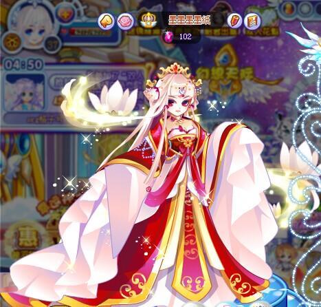 古风皇后 服装 手绘