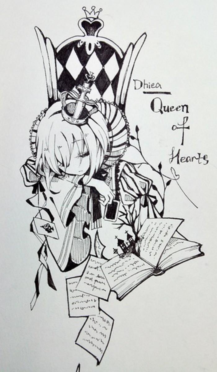 文艺小清新手绘铅笔画展示图片