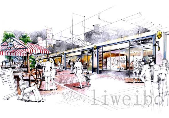 商场灯光设计手绘图