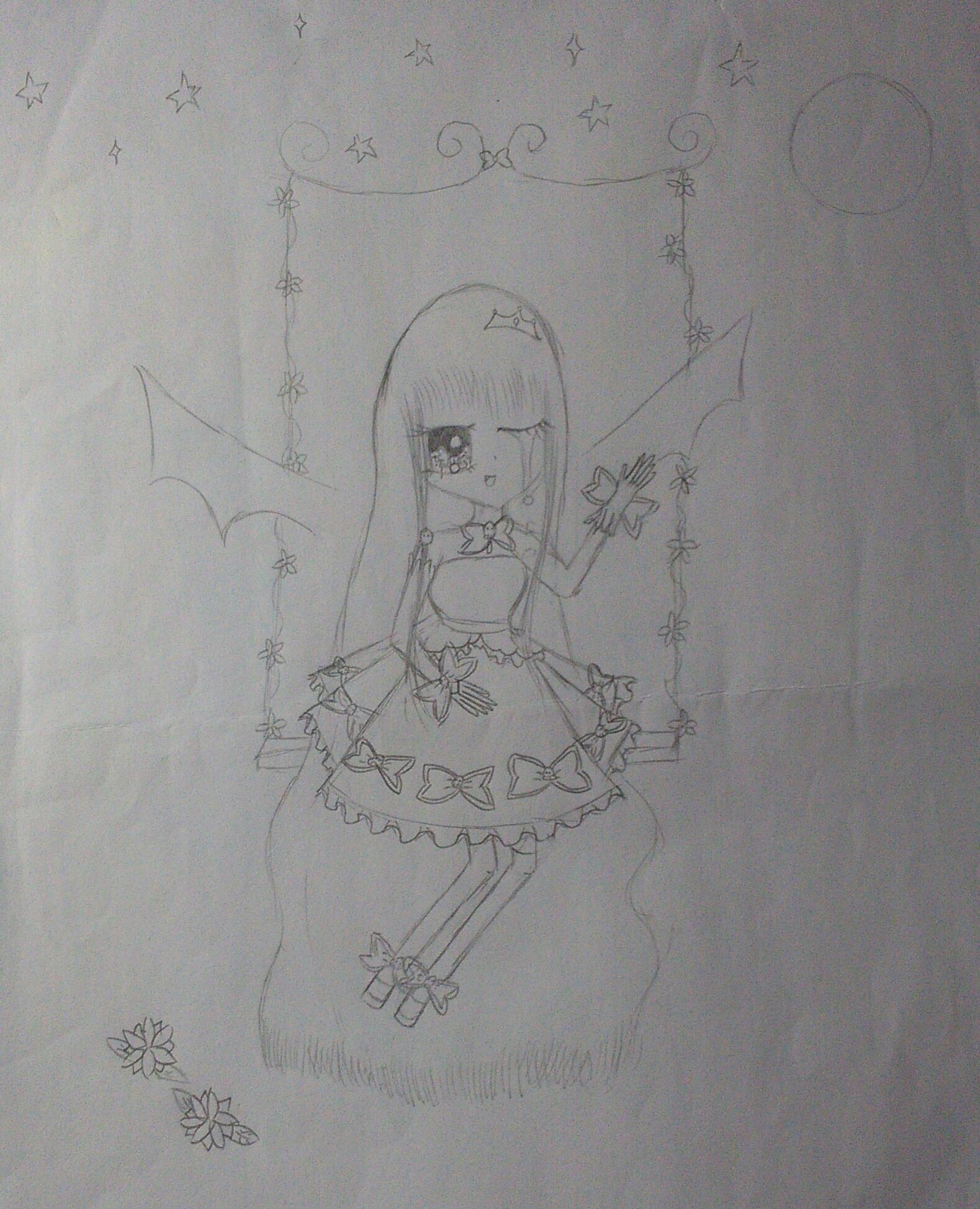 铅笔画公主裙设计图