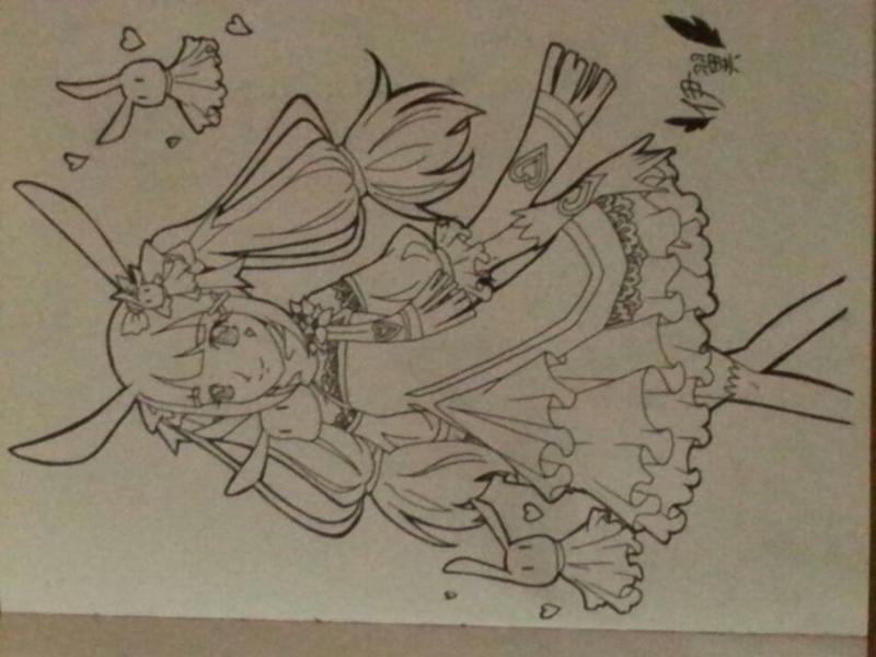【鹿·伊翼】魔力粉兔拟人手绘