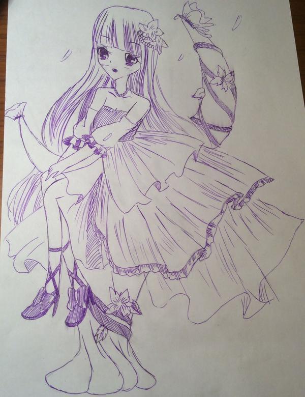 漂亮长发公主简笔画分享展示图片