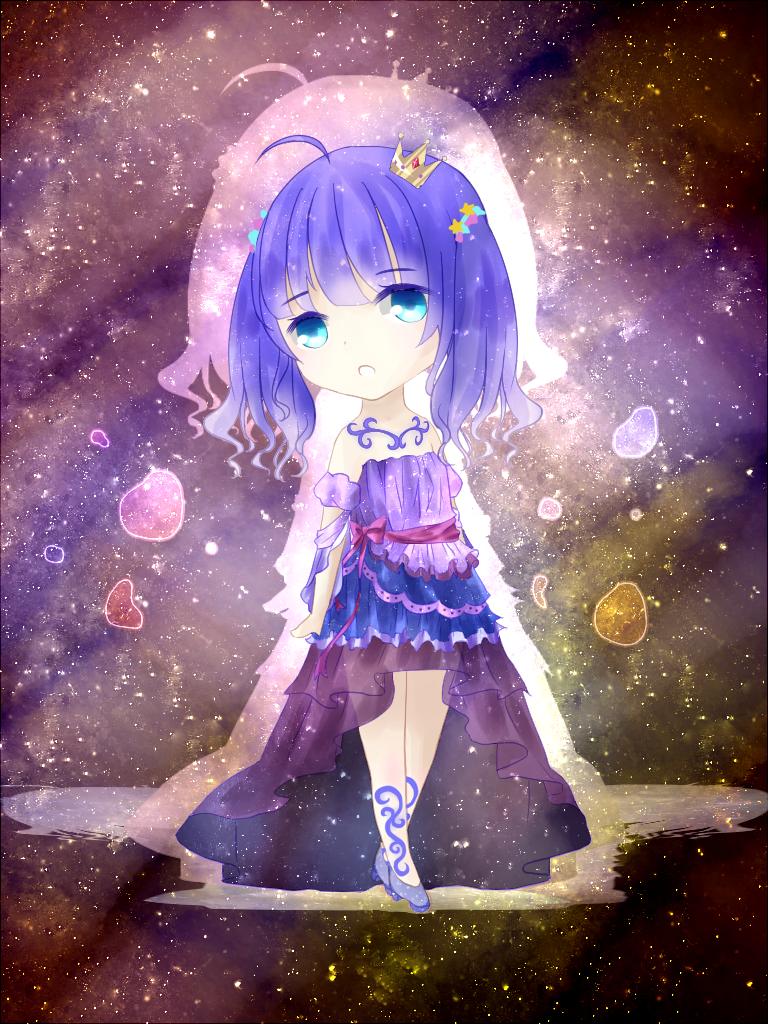 鹤鹤子奥比岛板绘秀作品--星河中央的少女