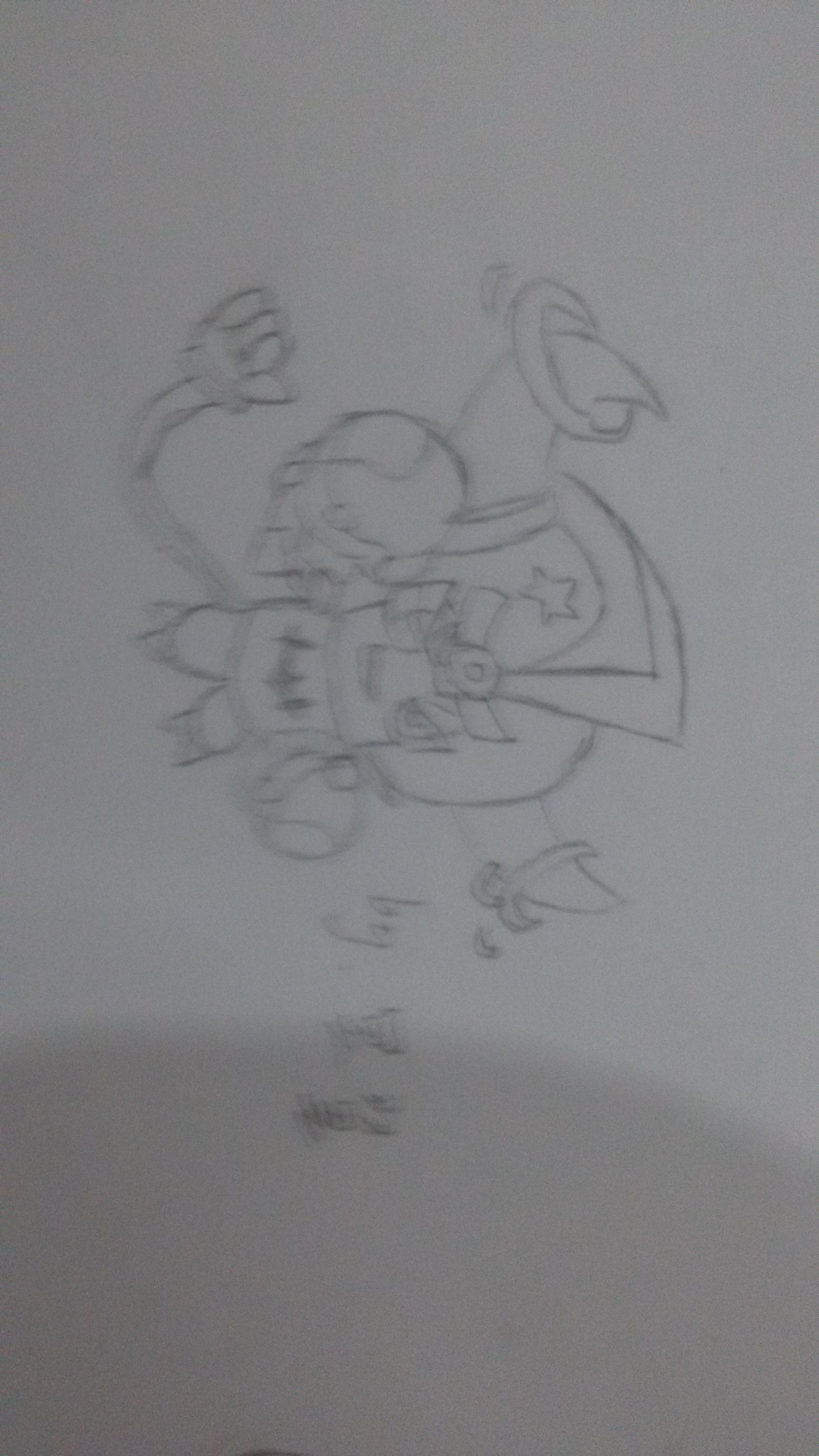 【冥翼】手绘线绘奥奇跑男
