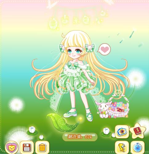 【梦幻兔兔精灵装】的搭配,色系小清新,风格萌萌哒,非常喜欢 套装预览
