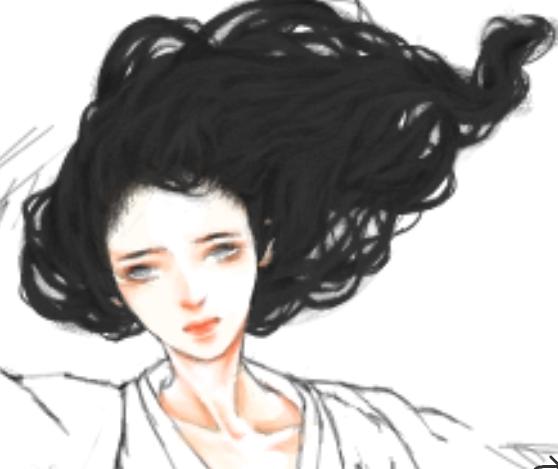 古风画素材头发png