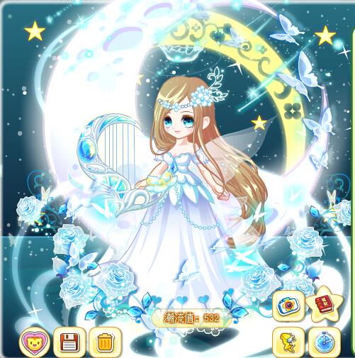 【於樱社——星星】教你搭配水颜奇迹长裙_百田奥比岛