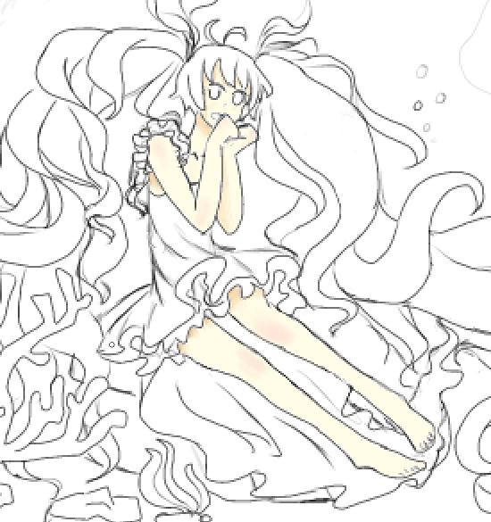 深海动物简笔画彩铅