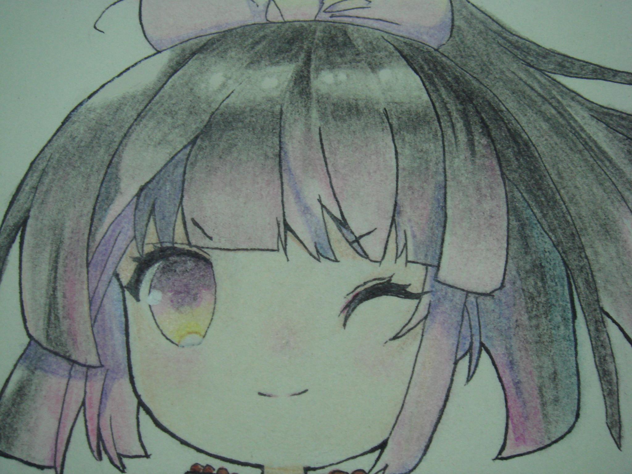 【小猫】手绘·绝世唐门q版唐雅过程