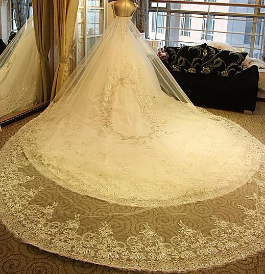 中式拖尾婚纱照图片大全