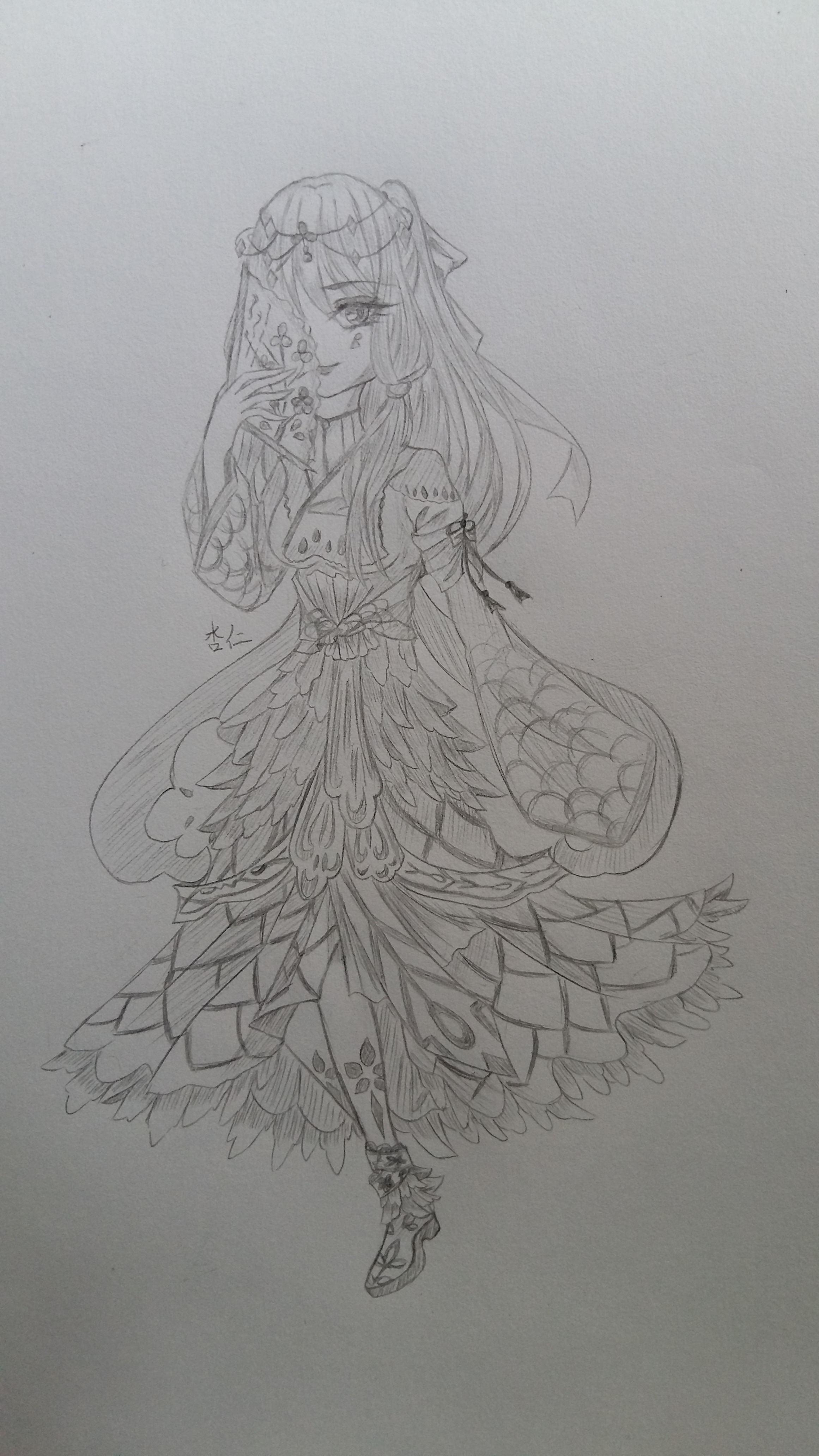 【杏仁】铅笔手绘图