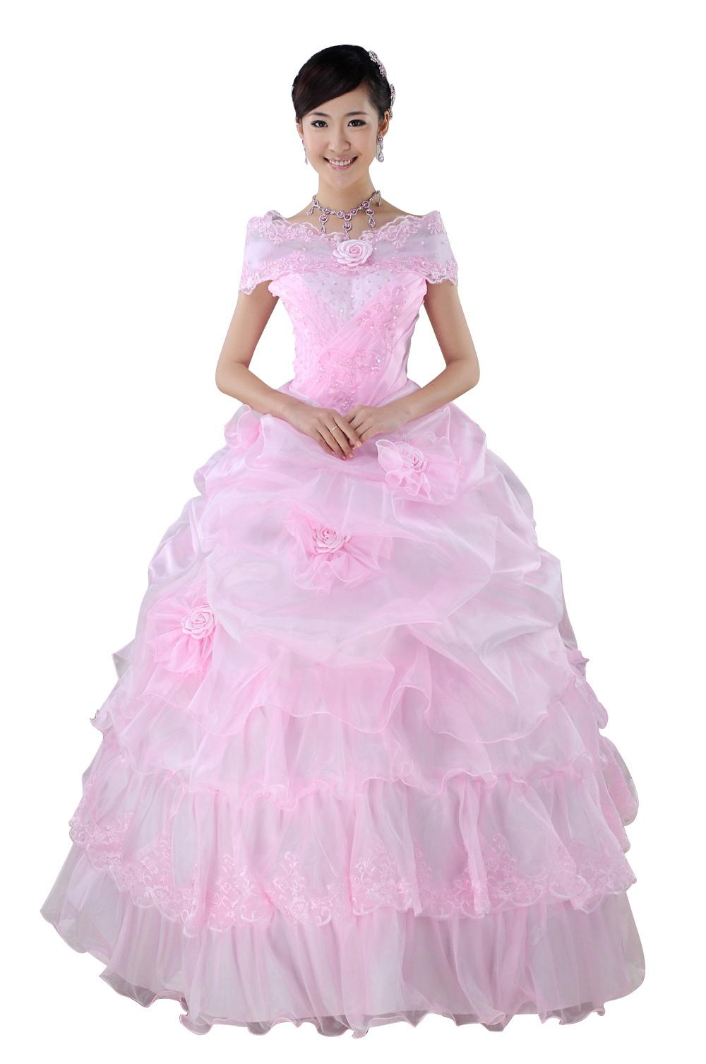 公主式婚纱手绘