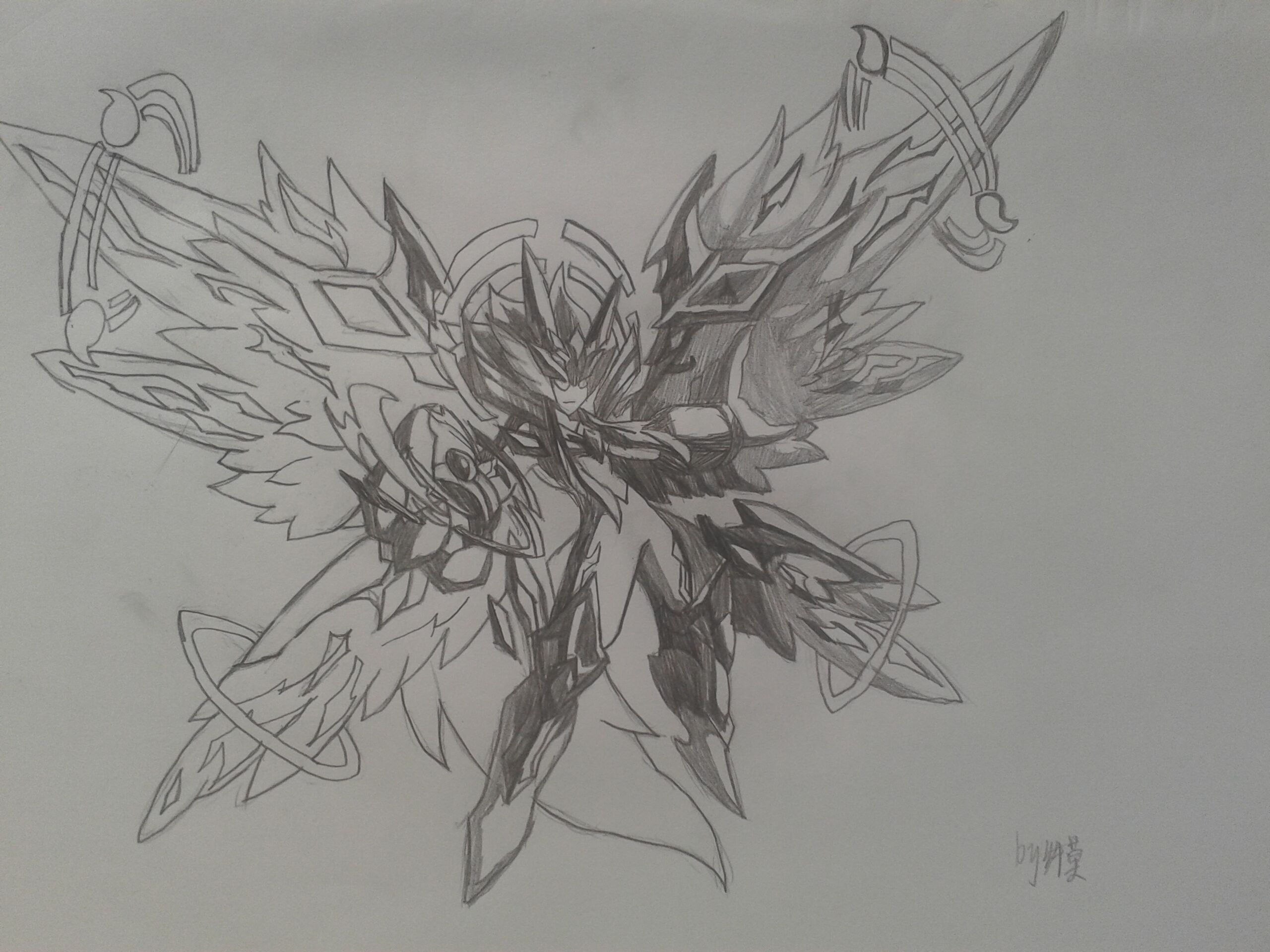 魔方素描画步骤