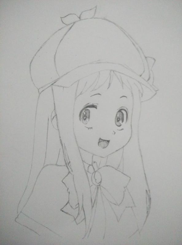 【槿年】q版铅笔手绘直播_百田动漫圈