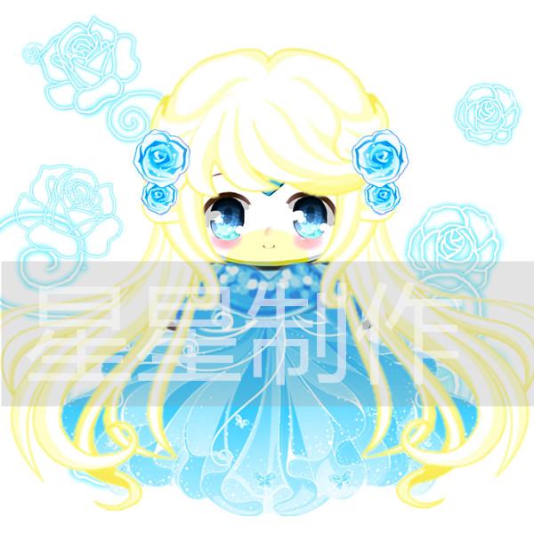 【於樱社——星星】改造》水晶蓝蔷薇_百田奥比岛粉丝