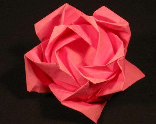 立体折纸花篮大全步骤图解玫瑰花