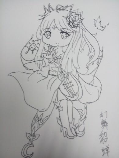 【幻夜】手绘幻舞貂蝉q版
