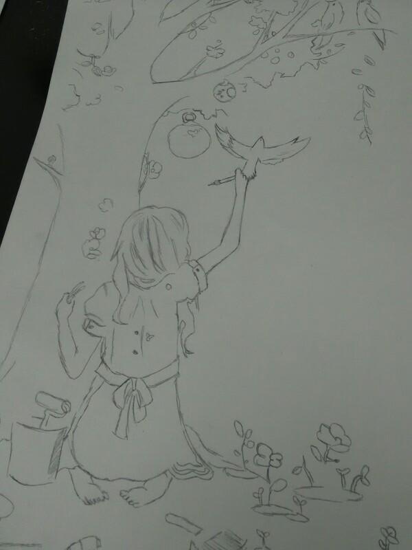 【若若】手绘文艺范妹子