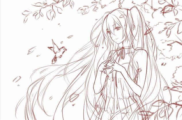 白鹤简笔画画法