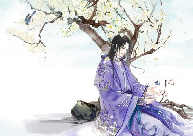 桃花树下,满身芬芳.