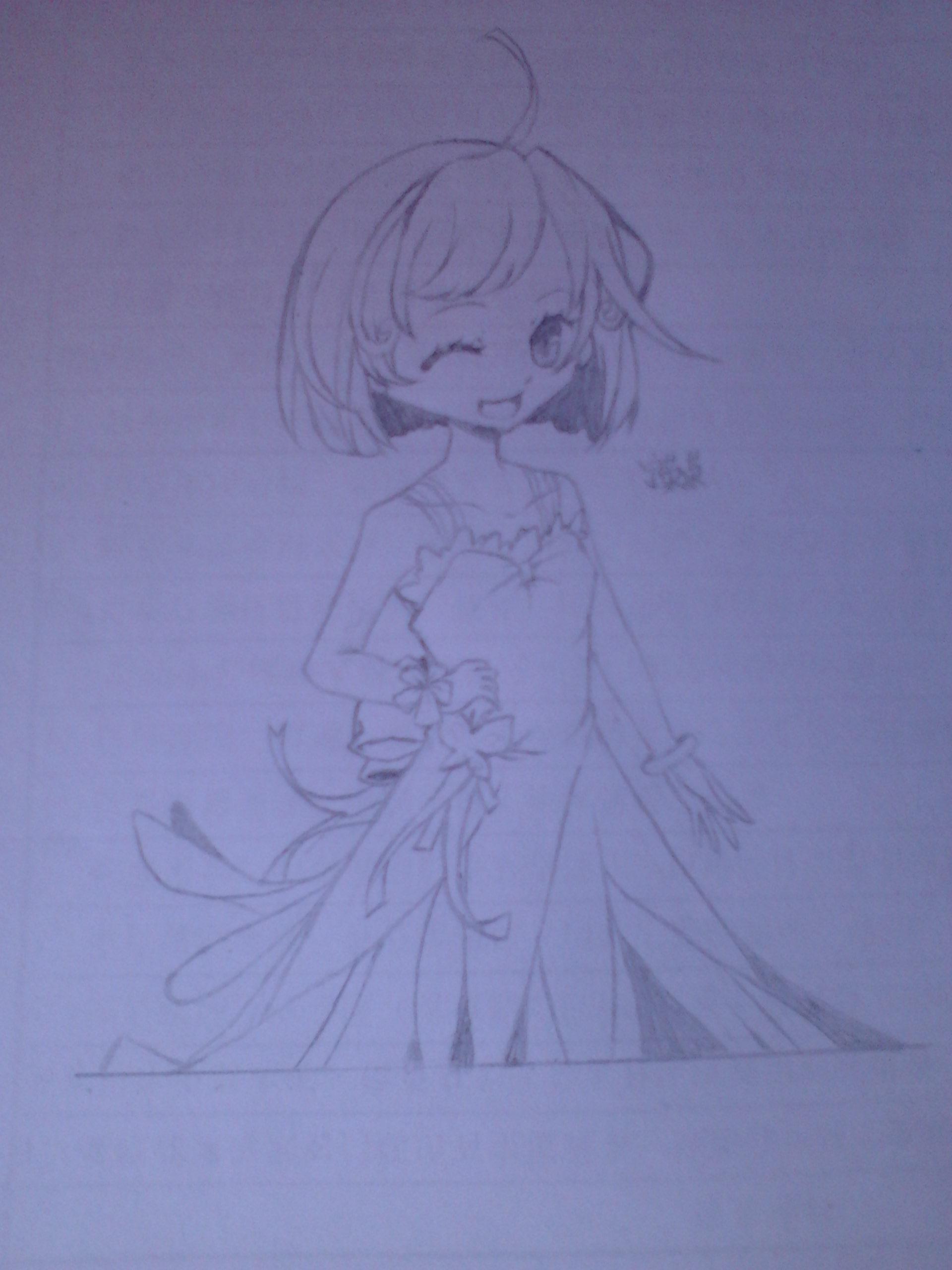 可爱狐妖铅笔画