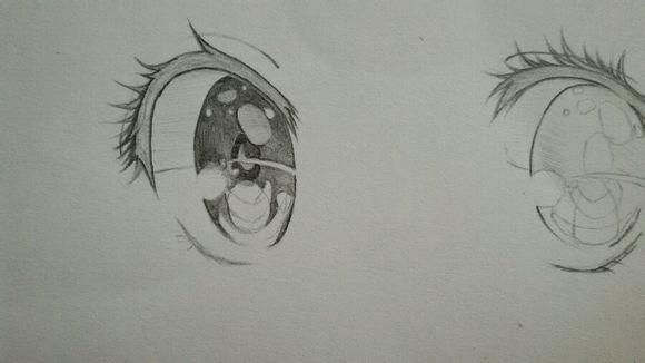 二次元眼睛怎么画,求简单的画法.