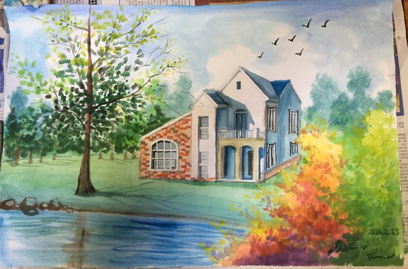 风景画水彩教程