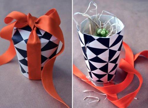 【雨萱】一次性纸杯手工制作图解-创意礼物盒(转)图片