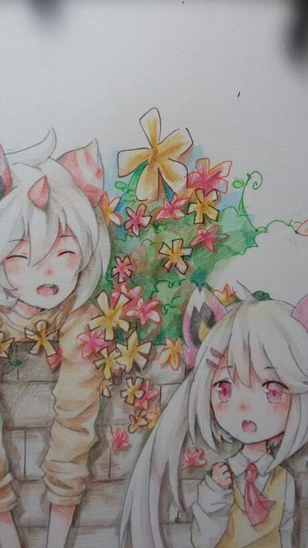 【璃枠】手绘,萤&冴の童年w