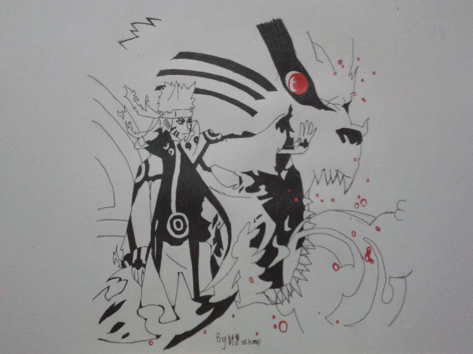 【纤莫】手绘 六道鸣人