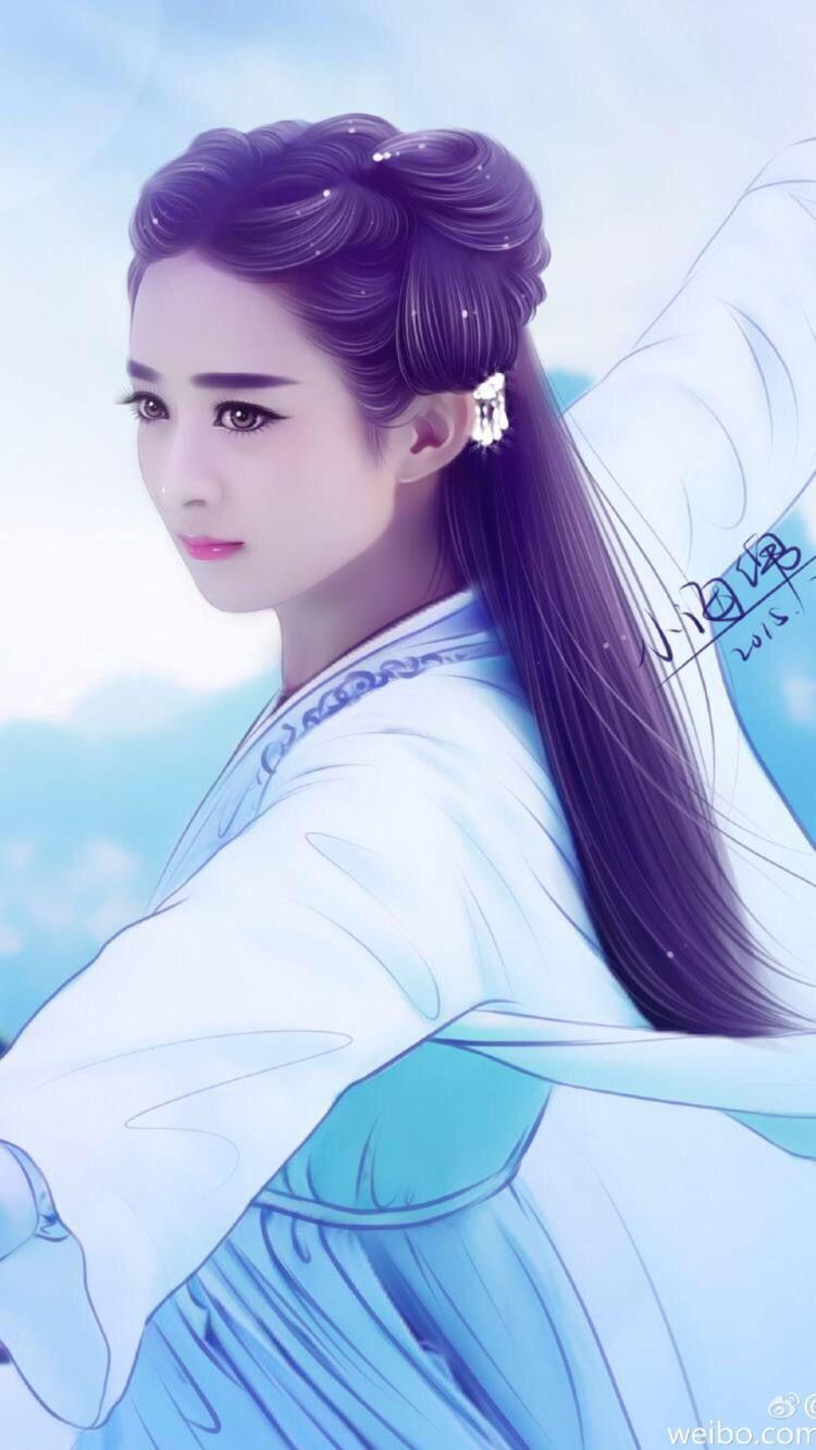 【馨子】丽颖古签+手绘美图_百田赵丽颖圈