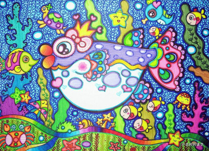 优秀儿童画_百田奥比岛圈图片
