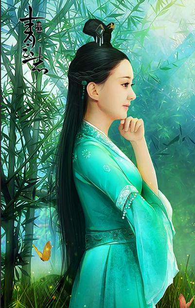 赵丽颖古装公主碧瑶手绘