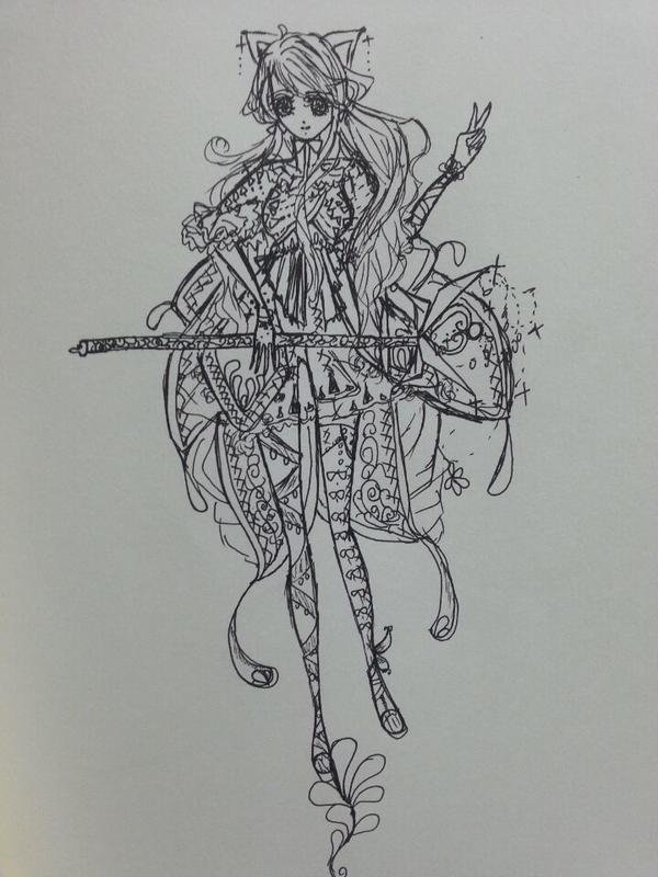 森系手绘拟人麋鹿插画