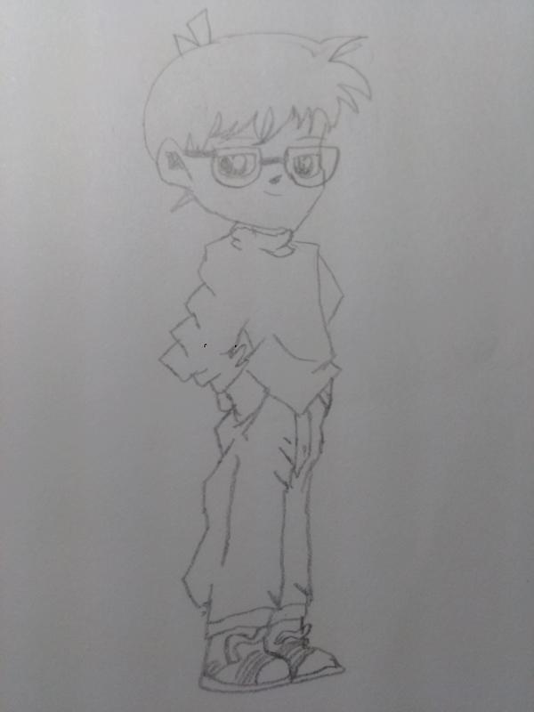 【聆昕】我用铅笔画的柯南