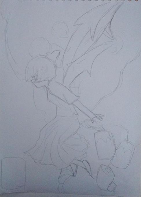 海棠素描步骤图片