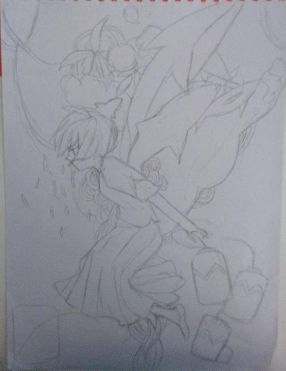 铅笔手绘大鱼海棠