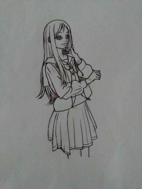 铅笔手绘情侣星空