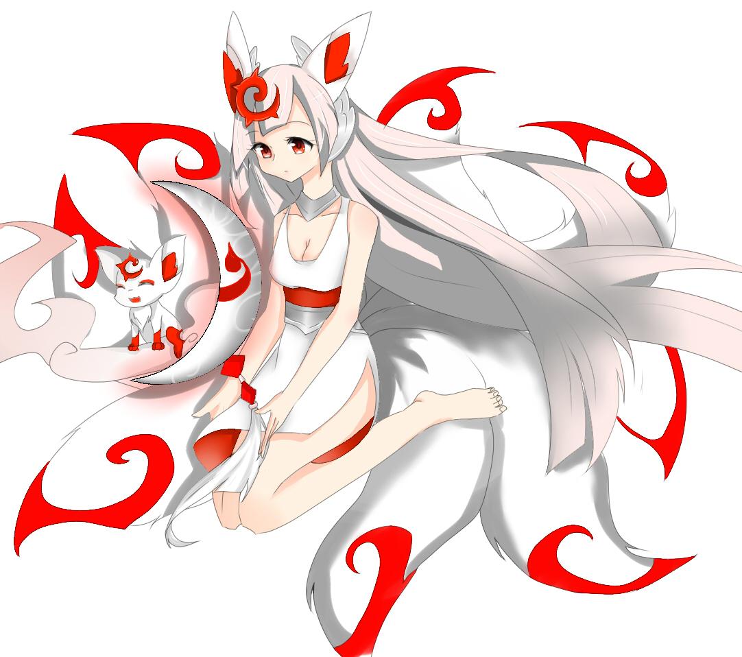 奥拉星鼠绘 九尾小白狐