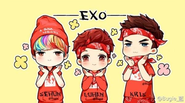 EXO Q版头像