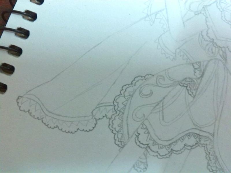 素描裙子画法步骤图